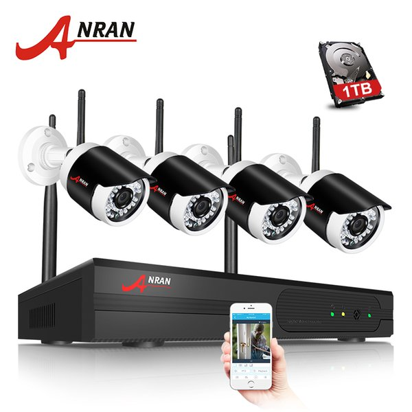 ANRAN Surveilcance System 960P HD Wireless CCTV Kit Outdoor Waterproof IP Camera WIFI Security Camera System 1TB HDD Selectable
