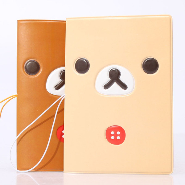Fashion Easily Bear 3D PVC Passport Cover Unisex Cute Leather Passport Case Women Travel Go Abroad Multifactional Case