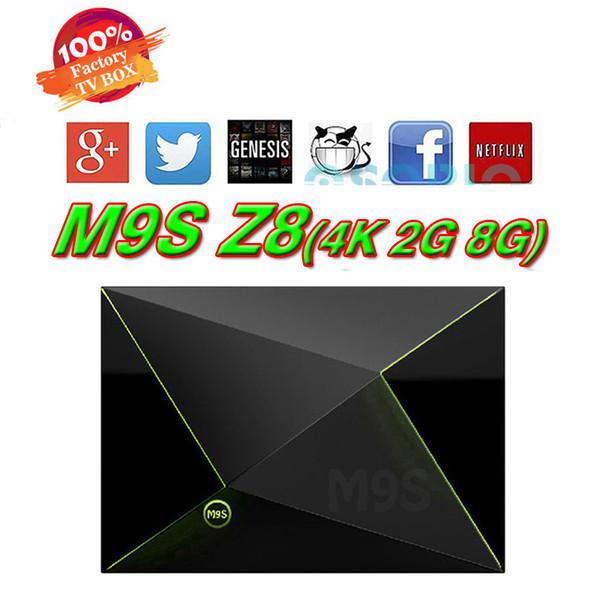 m9s z8 android tv box 2 GB di memoria 8 GB di memoria Bluetooth Android 6.0 Amlogic S905X Quad Core Streaming Media Player Box WiFi
