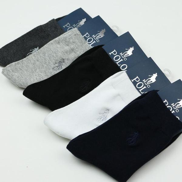 Saf Pamuk Bahar Çorap Erkekler Otantik Polo Marka Erkekler '; S Çorap Sonbahar Ve Kış Ticari Erkek Çorap 10 Adet = 5 Pairs