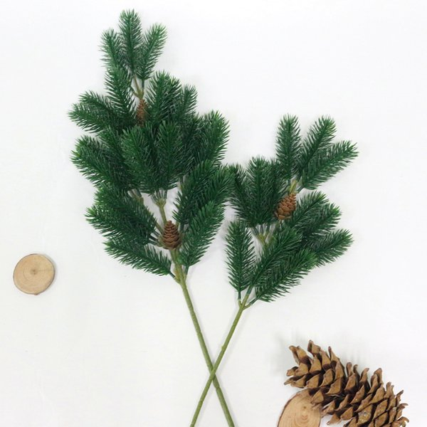 JAROWN Artificial Plastic Plants Simulation Christmas Pine Cone Pine Tree Branch Wedding Decoration Home Party Decor Flower