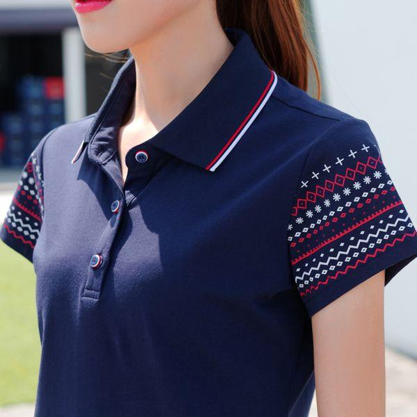 Women Polo Shirt cotton Slim polos shirts Womens Casual Plus Size Short Sleeve Retro vintage polos shirts women Tops polo femme