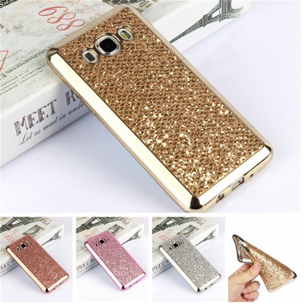 Luxury Glitter Bling TPU Case For Samsung Galaxy S4 S5 mini S6 S7 Edge S8 Plus A3 A5 J3 J5 J7 2016 Grand Prime Phone Cover Cases