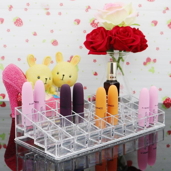 Clear Makeup Organizer 36 Slots Lipstick Storage Box Jewelry Storage Case Lip Gross Organizer Jewelry Organizer