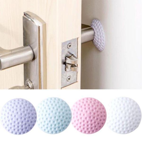 hot sale door knob wall protector Self- Adhesive Crash pad/Door Handle Bumper Rubber Guard Stopper wholesale