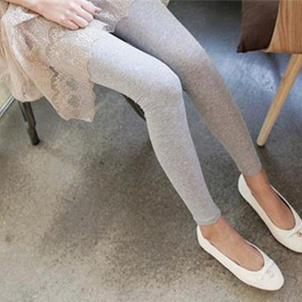 Quanlity alta das mulheres sexy stretchy skinny coon cintura alta leggings calças nova moda doces cor calças slim 2017 novo