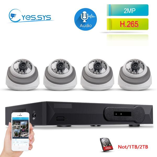 eyes.sys Audio 4CH P2P 1080P NVR NET IP WiFi-Audiokamera mit Mikrofon Home-Videosystem Sicherheitssystem Überwachungskit