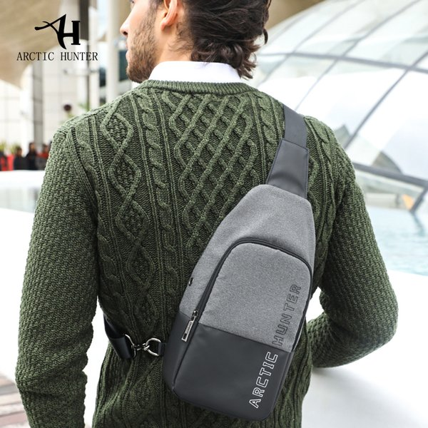 ARCTIC2018 Fashion Casual Travel Men's Crossbody Bags Male Chest Pack Waterproof Single ShoulderWaist Bag (Ship From RU)
