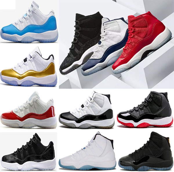 "Number ""45"" 11 Spaces Jams Basketball Shoes for Men Women Gym Red 11s Sport Sneakers Midnight Navy size 8-13"
