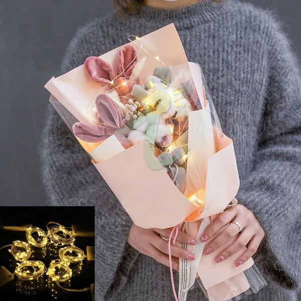 El alambre de cobre llevó las luces de la secuencia 2M 20leds CR2032 con pilas de la moneda 8 colores para la decoración de la flor de la ropa