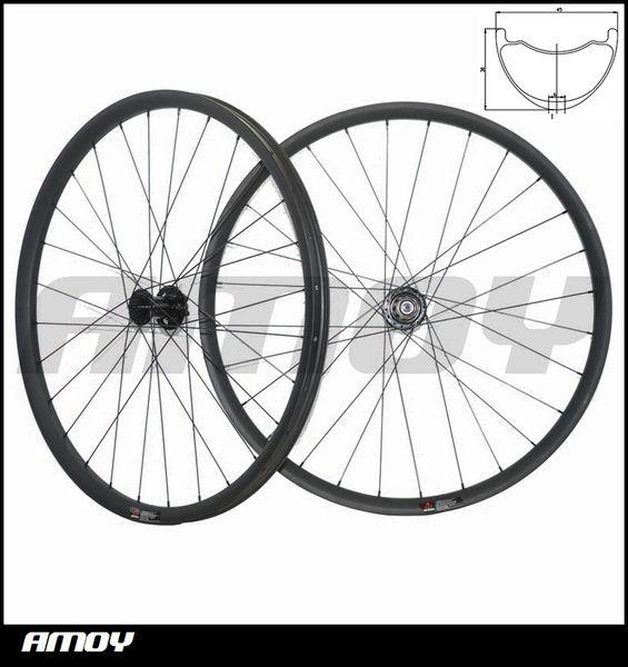 27.5er MTB XC race 27mm wide offset Mountain Bike Carbon racing Wheel set Hookless Tubeless Width 45mm* Depth 25mm 27.5er Plus Wheelset Carb