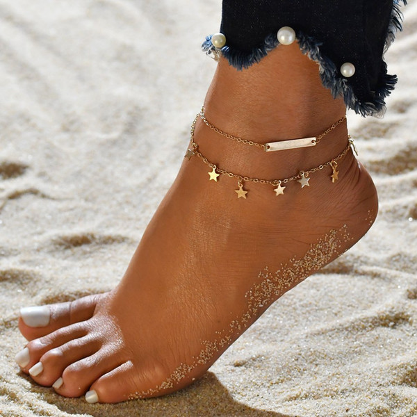 Cheap Barefoot Sandals For Wedding Shoes Sandel Anklet Chain Bracelet Gold Silver Toe Ring Beading Wedding Bridal Bridesmaid Jewelry Foot