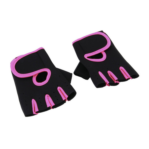 JIAZHOUHU Fitness Gloves Women Fingerless Mittens Bicycle Bodybuilding Men Women's Fitness Gloves Weightlifting Female