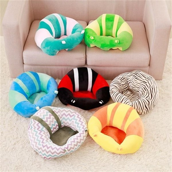 Creative Kids Sleep Pillow Folding Bed Safety Soft Car Seat Cushion Portable Sofa Plush Toys Baby Learning Chair Kids Sleep Pillow 40mb2 aa