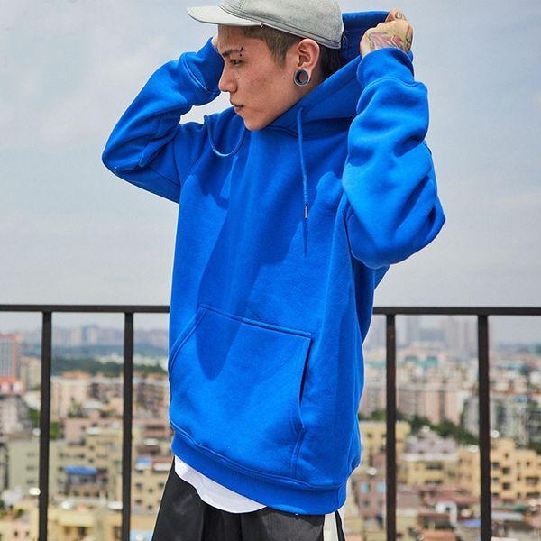 Long Sleeve Sweatshirt Men Hooded Blue casual USA SIZE Sweatshirt Men Hoodies Solid Pullover Clothing Hip Hop