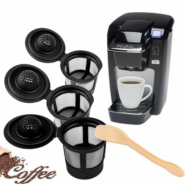 3pcs/set Reusable Refillable Coffee Filter Basket K-Cups for Keurig 1.0 Stainless Steel Mesh Compatible Pod System NNA376