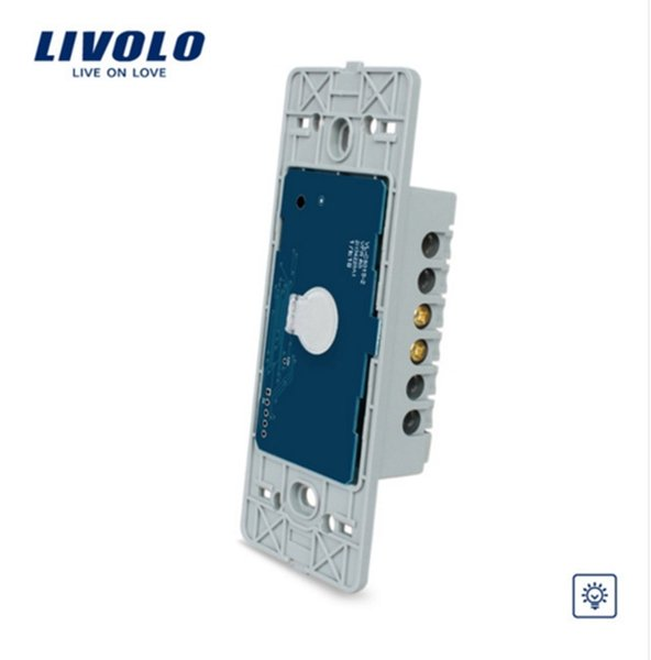 Livolo US standard one gang Wall Light Touch Dimmer Switch base board ,AC 110~250V, Without Glass Panel, VL-C501D