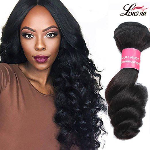 8A Unprocessed Brazilian Loose Wave Hair Human Hair Weave Loose Wave 3 Bundles Cheap Indian Virgin Loose Wave Hair Extensions Natural Color