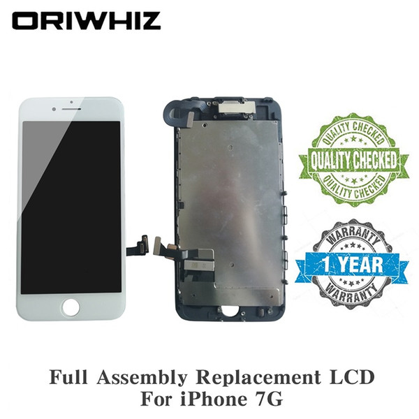 Easy Installation Replacement LCD Touch For iPhone 7 Screen Digitizer Display with Front Camera Facing Proximity Sensor, Ear Speaker, Tool