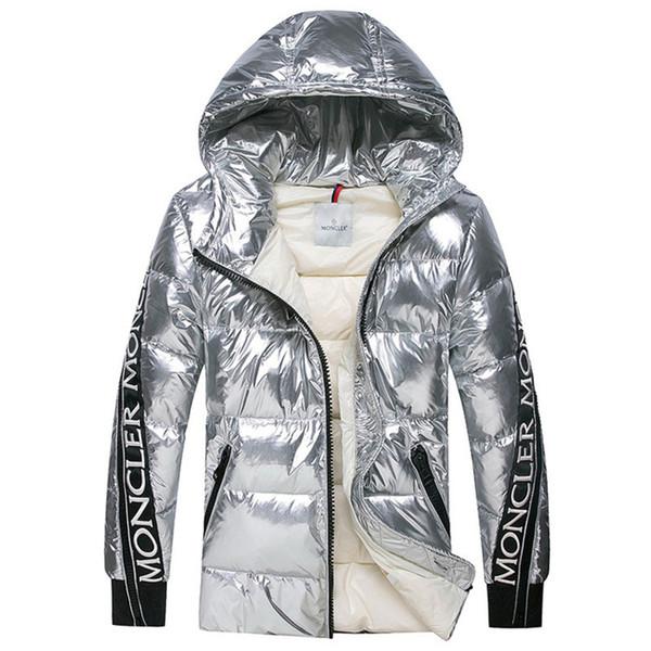 2018 neue Ankunft Herren Winterjacke berühmte Marke Designer hohe Qualität weiße Ente dünne Männer Daunenmantel plus Größe Männer warme Outdoor Parkas