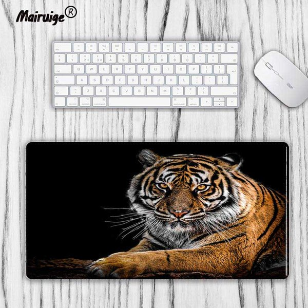 Mairuige Large Size mouse pad Tiger in the dark Anti-slip Natural Rubber PC Computer Gaming mousepad Desk Mat for LOL surprise cs go DOTA2