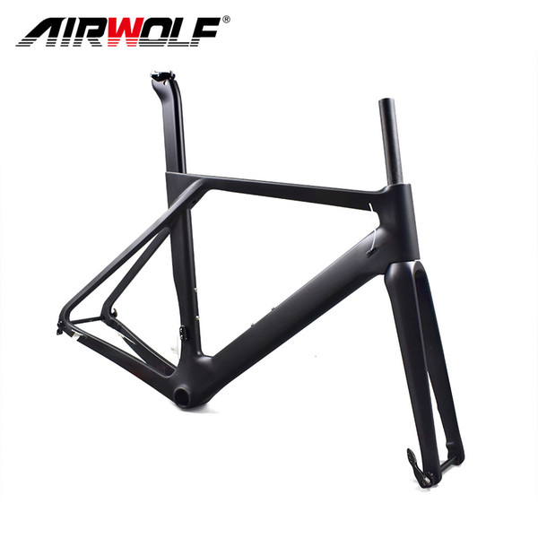 2018 Newest carbon disc frame own design bike disc frame,disc bicycle frame with frame+fork+seat post+clamp+headsets+BB Transfer+2 pcs rod