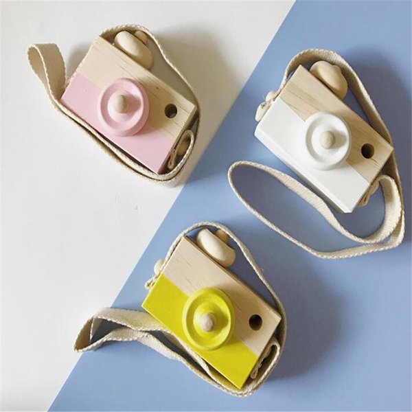Cute Wood Camera Toys Safe Natural Toy For Baby Children Fashion Clothing Nordic European Style 6 Colors