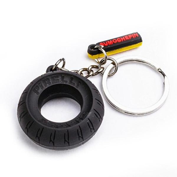 Creative Motorcycle Motorbike Tyre Keychain Key Chain Tire Keyring Key Ring Keyfob Rubber Car Auto Pendant Accessory