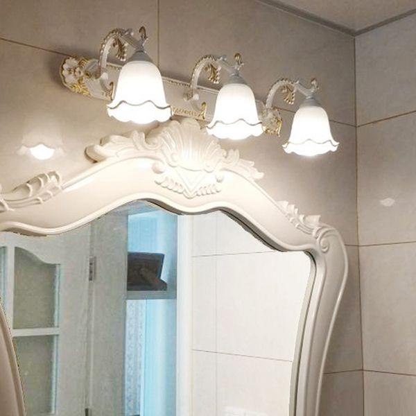 Großhandel Antike LED Spiegel Lampe Wand Lampe Toilette Badezimmer Schrank  Anti Nebel Lichter LED Retro Make Up Spiegel Lampe Bronze Schlafzimmer ...