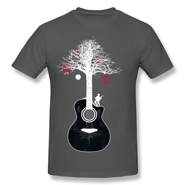Best Sale Men's 100% Cotton Fabric Serenade Guitar Tree Root T Shirts Men's O Neck Beige Short Sleeve T Shirt Plus Size Summer T Shirts