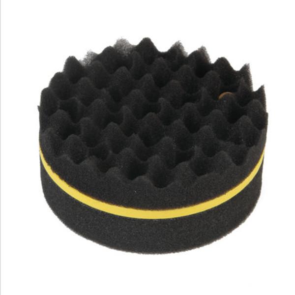 20 Paquetes Negro Ola Curling Esponja Cara Doble Curling Cabello Artefacto Peluquería Limpieza Esponja Cepillo para niños