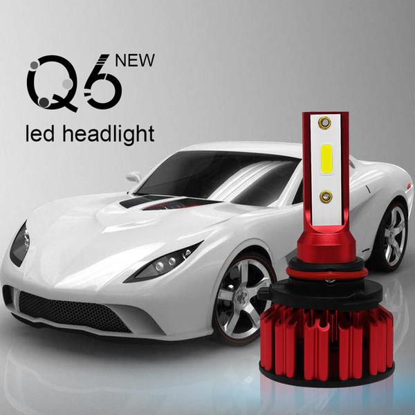 Nuevo 2 Unids 50 W LED Faros Q6 LED Faro H4 H7 H11 9005 9006 Bombillas LED para Coche Luz de Rayo Bajo Haz de Rana