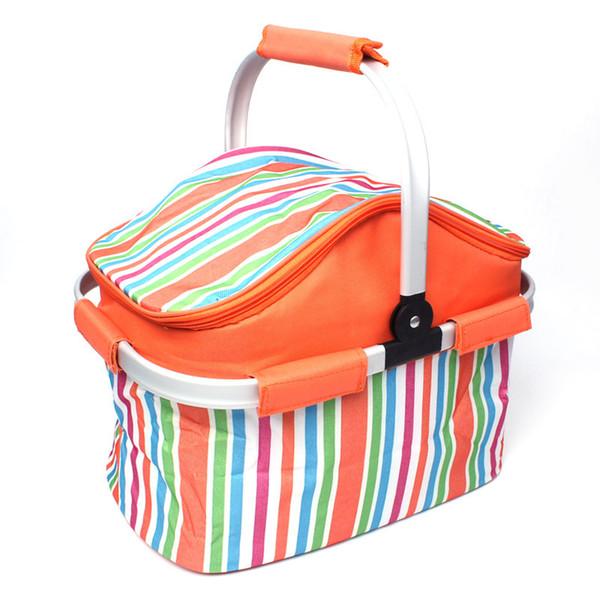 20 L di raffreddamento termico isolato impermeabile Lunch Box Storage Picnic Bag Pouch portatile Cooler Borse grigio per Sandwich Snack