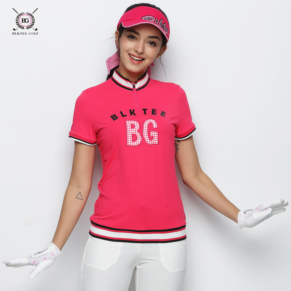 2018 Hot Sales BG New Breathable Golf Polo Shirt Women Short Sleeved Anti-Pilling T-shirt Ladies Sports Jersey Dress