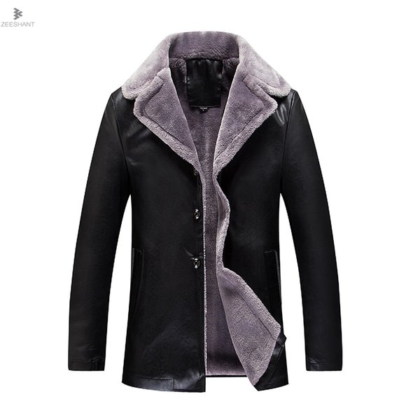 Men Leather Jackets New Arrival Winter Brand Plus Velvet Thick Warm Motorcycle Business Casual Mens Leather Jackets Coats 8XL