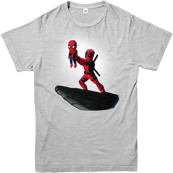 Camiseta de Deadpool, Spiderman Lion King Spoof, Marvel Comics Adultos y niños Tamaños Unisex Funny High Quality Casual gift