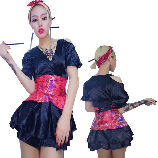 Neue Sexy Sängerin Outfit Rot Glänzend Jazz Dance Wear Dj Nachtclub Kleid Kostüm Frauen Bühnenkostüme Für Sänger Tanzen