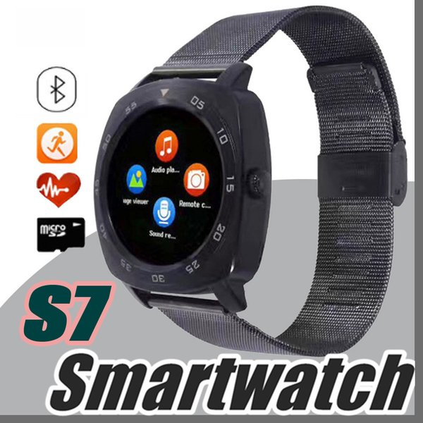DHL Steel Full Round Electronic Smart Watch X3 S7 Smart Monitor Sleep Tracker Wearable Devices for Apple Androld Iphone Smartwatch U-BS