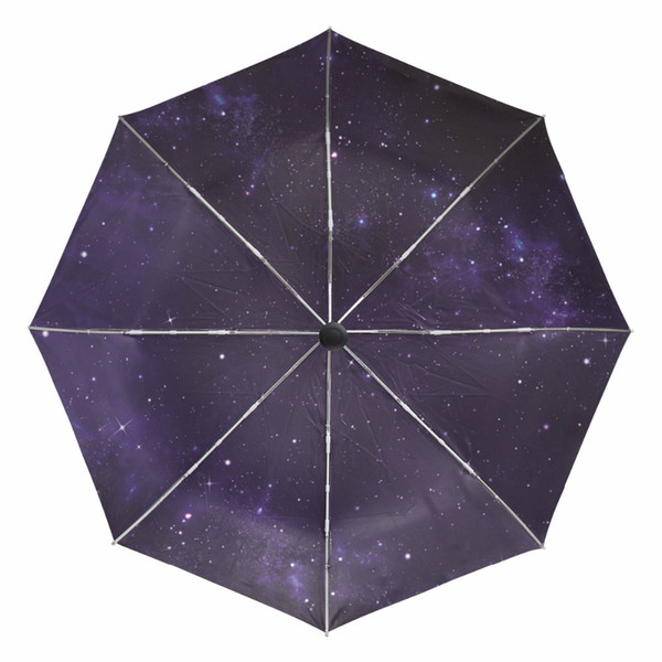 e6f0a38f5aad 2018 New Fully Automatic Anti UV Umbrella Women Gift Galaxy Starry Night  Windproof Sun Rain Ladies Umbrellas With Outer Black Coating From Tim2012,  ...
