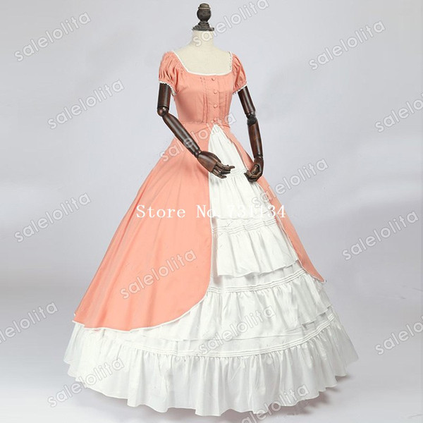Hot Sale Renaissance Colonial Bridesmaid Period Dress Fairytale Ball Gown Renaissance Southern Belle Dress Theater Clothing Canada 2019 From