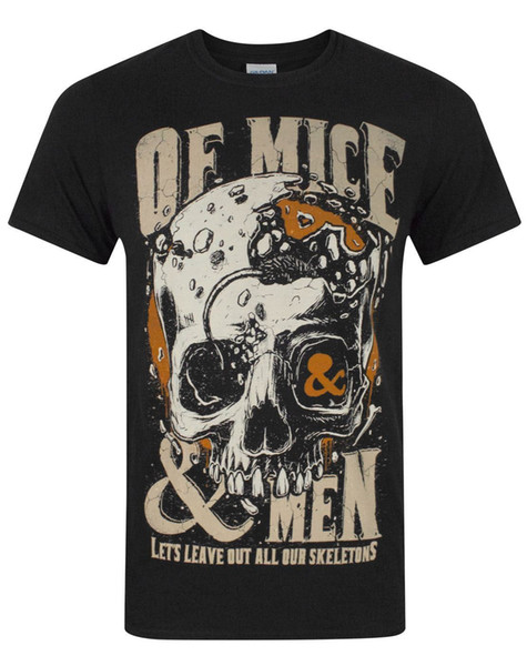 T Shirt Men's Digital Direct Printing Short Sleeve Crewneck Cotton Camiseta of Mice and Men Leave Out Men's T-Shirt