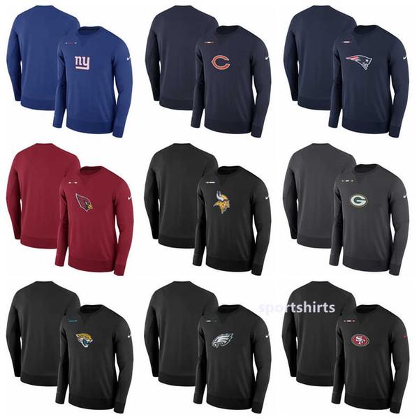 meet 92916 6108a 2018 Philadelphia Eagles Packers Minnesota Vikings San Francisco 49ers  Giants Cardinals Cardinal Sideline Team Logo Performance Sweatshirt Hoodie  From ...