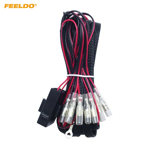2019 FEELDO Universal 4 Connector Wiring Harness Power Adapter Kits on
