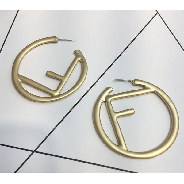 Femmes Marque Lettre F Boucle D'oreille Designer De Luxe Cerceau Boucle D'oreille Cadeau pour Amour Petite Amie Modèle De Mode Célèbre Marque Bijoux Accessoires