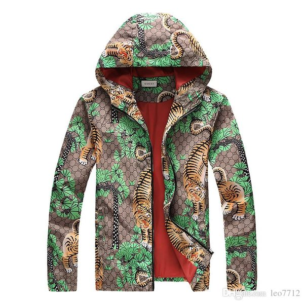 Fashion Outdoor Multicolored Bengal Tiger Blue Jungle Jacket Autumn Sunscreen Waterproof 3G Men & Women 4G Luxury Zipper UV Protection Skin