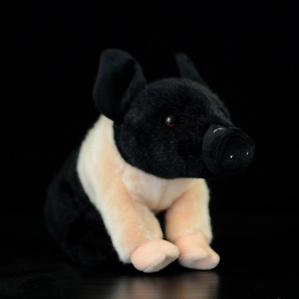 Cute The Little Pig Plush Toys Simulation Black/Pink Pig Stuffed Stuffed Animals Dolls Kids Toys Christmas Gifts