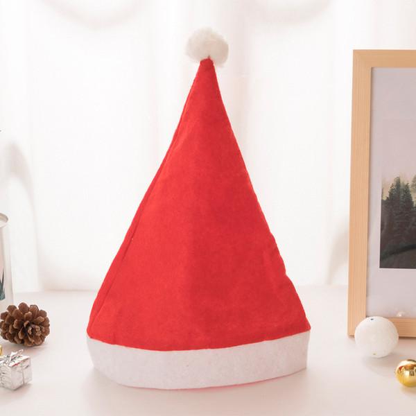 Natale cappello rosso adulto bambino Santa cappelli cosplay partito ristorante centro commerciale Natale regalo omaggio Decorazione di Natale