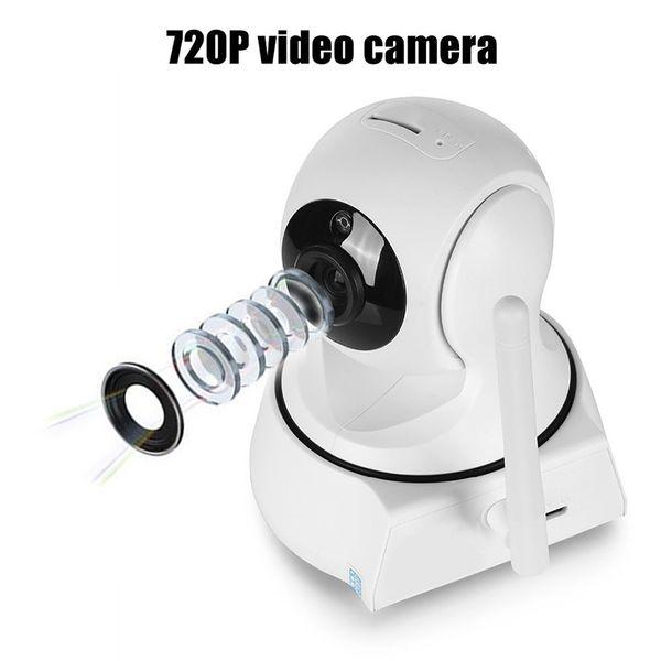 Nueva seguridad para el hogar Mini cámara IP inalámbrica Cámara de vigilancia Wifi 720 P Cámara CCTV de visión nocturna Monitor de bebé DHL gratuito