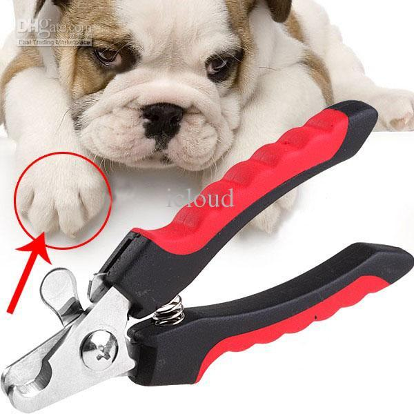 Straight Handle Pet Dog Cat Nail Clippers Scissors Nail Toe Trimmer Handy Nail Care Grooming Tool Safety Cutter Claws Scissor A247