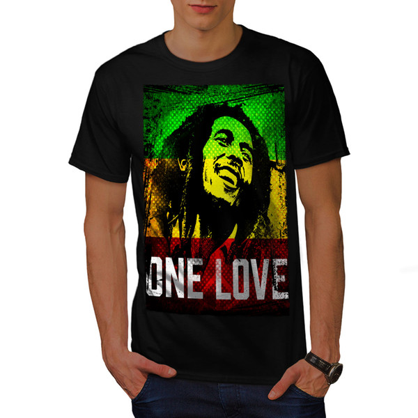 Wellcoda Marley One Love Pot Mens T-shirt, Rastafari Graphic Design Printed Tee Funny free shipping Unisex Casual tshirt gift